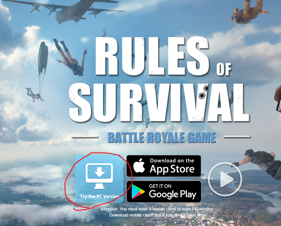 PC版Rules of Survivalのダウンロード