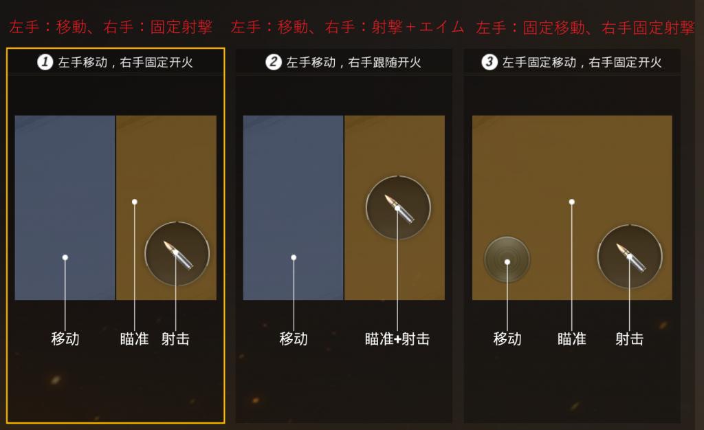 ボタンの配置設定画面の翻訳