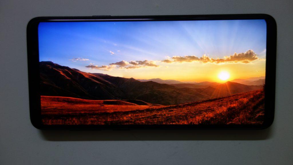 galaxy S9+ ディスプレイの綺麗さ